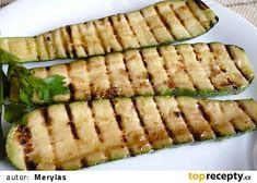 Grilované marinované cukety recept - TopRecepty.cz Asparagus, Zucchini, Med, Vegetables, Summer Squash, Studs, Vegetable Recipes, Cucumber, Zucchini Plants
