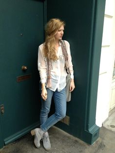 Alice rocking the Stud Cross Sheer Shirt £35    #streetstyle