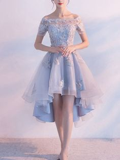 Sexy Homecoming Dress Off-the-shoulder Organza Short Prom Dress Party Dress,HS168 #zapatos