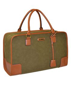Love this Olive Faux Suede Duffel Bag by Adrienne Vittadini on #zulily! #zulilyfinds