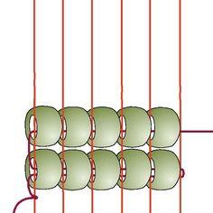 Basic Beading on a Loom: Step 4
