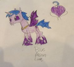 Blue Moon Love is a good changeling.. She loves to study the moon and the stars.please adopt of if you like her.
