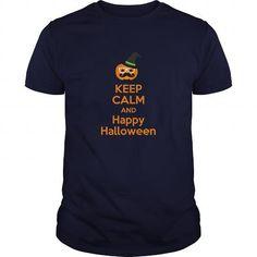 keep calm and happy halloween T Shirts, Hoodies. Check price ==► https://www.sunfrog.com/Holidays/keep-Navy-Blue-Guys.html?41382 $20.5