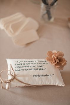 Winnie the Pooh wedding ring bearer pillow - natural, rustic, burlap Courtesy of @ninephotography   Austin/Hill Country and Dallas Wedding Planner - Altar Ego Weddings