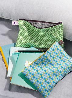 #DIY - Réalisez des pochettes tendances complètement zippées !: