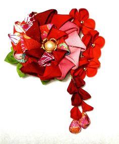 つまみ細工 和花のクリップピン