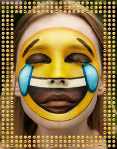 Emoji face paint tut