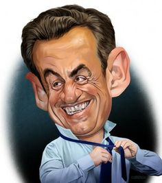 Nicholas Sarkozy by Joe Cummings via wittygraphy