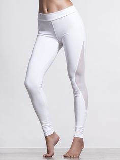 When it starts to get hot in your morning yoga class, you'll be glad you wore these Mesh Cutout Leggings from Solow! These light compression leggings have mesh panels strategically placed to both maximize airflow and also lengthen the lines of your legs to create a slimming effect that's only enhanced by those hard-to-reach yoga poses you'll be doing.