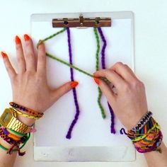 knot tying lesson for friendship bracelets clipboard