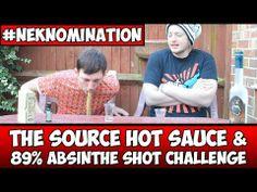 The Source Hot Sauce & 89% Absinthe Shot Challenge #NekNomination *Vomit Alert* | WheresMyChallenge - YouTube