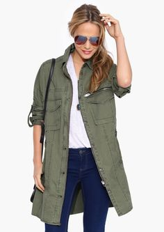 Call Me Sargent Jacket in Olive//