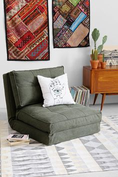 4040 Locust Canvas Floor Chair - Urban Outfitters