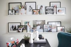 love, love, love this shelving for photos.