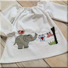 Stickmuster - Stickdatei Doodle - Elefant Elefanten-Wäsche 13x18 - ein Designerstück von Klitzeklein_design bei DaWanda