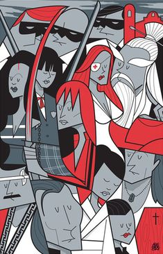 Kill Bill - Super Cool Illustrations by Ale Giorgini