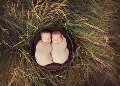 outdoor newborn twins