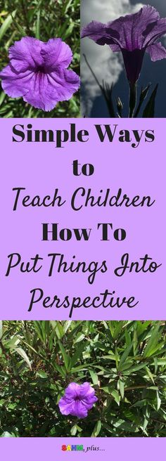 Putting things in perspective during difficult situations can be tough as adults. But, as parents, not only do we need to model this ability, we need to know how to teach our children to put things into perspective. 3 simple strategies for teaching perspective.