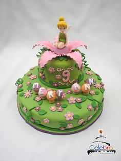 Tinkerbell Cake by =The-Nonexistent