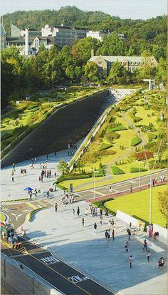 Conceptual Design Architecture, Architecture Visualization, Green Architecture, Architecture Portfolio, Landscape Architecture, Architecture Panel, Drawing Architecture, Landscape Plane, Landscape Concept