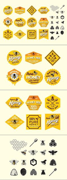 UPDATE FILES - Add individual layer DESCRIPTION A branding inspiring new unique design visual identity for a brand and helps to stand out in a sea of Bee Design, Logo Design, Graphic Design, Branding Design, Sticker Design, Sticker Logo, Logo Stickers, Label Stickers, Logo Bee