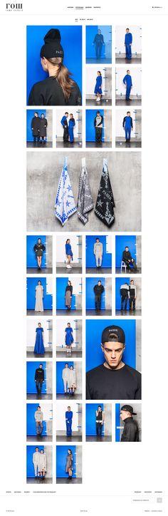 GOSH — Fashion Brand Website on Behance