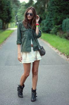 Polienne: ARMY JACKET #street style #fashion #grunge