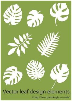 tropical leaf elements thumb 1620 Illustration of tropical leaf such as monstera (Ai) Free Style - - Diy Flowers, Paper Flowers, Fabric Flowers, Leaf Template, Flower Template, Leaf Stencil, Stencils, Diy And Crafts, Crafts For Kids