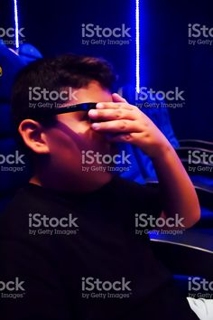 Boy Is Watching Movie And Scaring stock photo 108837677 - iStock