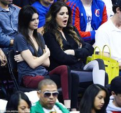 Khloe Kardashian LA Clippers Game March 13 2013