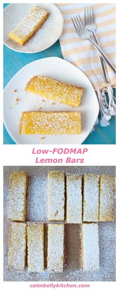 Lemon Bars with Almond Shortbread Crust (Gluten free, low-FODMAP)