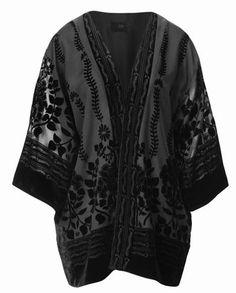 H&M burn out velvet kimono ... part of H&M's Conscious Party Collection November 2013