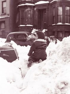The Snows of 65 Years Ago, East 86th Street, Manhattan, January...