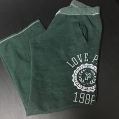 Victoria's secret pink sweatpants Dark green sweatpants size xs. PINK Victoria's Secret Pants Track Pants & Joggers