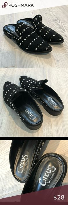 WOMENS NEW BLACK FLAT FAUX SUEDE  BALLET SLIP ON MOCCASIN STUDS  SHOES  SIZE
