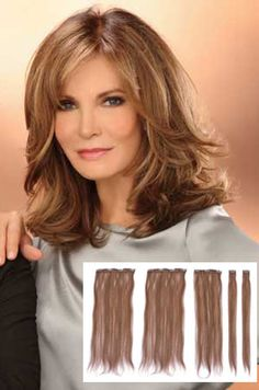 images of jacqueline smith   Jaclyn Smith Extensions : 14 5 pc Clip In (#A3450)