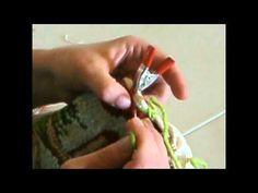 Herringbone whipped edge for rug hooking