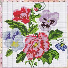 Cross Stitch Rose, Cross Stitch Embroidery, Cross Stitch Patterns, Bouquet, Map, Cross Stitch Borders, Modern Cross Stitch, Hand Embroidery Stitches, Perfect Love