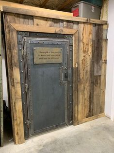 Gun Safe Room, Safe Door, Gun Vault, Vault Doors, Hidden Gun, Barn Door Designs, Gun Rooms, Trophy Rooms, Hidden Rooms