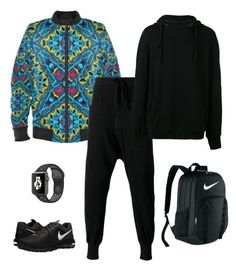 """Four corners"" jacket ootd by guutanii on Polyvore featuring polyvore, Andrea Ya'aqov, Thom Krom, NIKE, men's fashion, menswear and clothing"