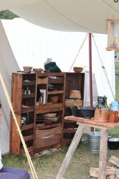 Folding camp kitchen box - 2