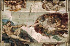 Golden ratio composition in Michelangelo's Creation of Adam