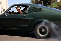 Steve McQueen in that green Mustang in Bullitt.