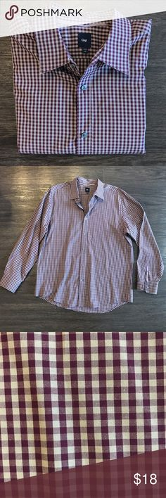Gap Button Down Shirt Casual or dressy purple and light gray button down shirt. Like new condition. No buttons missing. GAP Shirts Casual Button Down Shirts