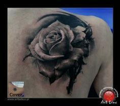 Rose Tattoo , Artist@Dominik Szymkowiak, Art Line Tattoo Poznan