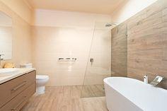 Timber Tile Bathroom Reno in Belmont