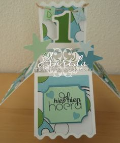 Box card created for the first birthday of little Dex