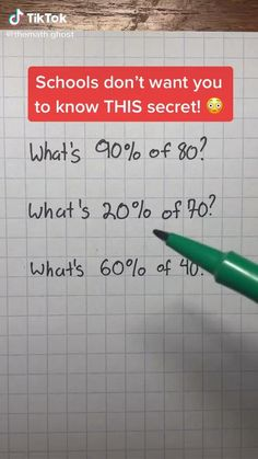 High School Hacks, High School Life, Life Hacks For School, School Study Tips, School Tips, Math Help, Fun Math, Cool Math Tricks, Maths Tricks