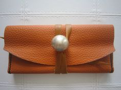 Handmade cow leather women CC bag purse wallet by mariamariaa