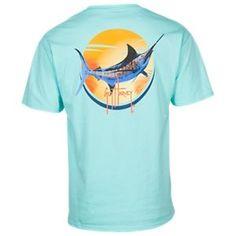 Guy Harvey Sunny Days Pocket T-Shirt for Men - Mint - 2X
